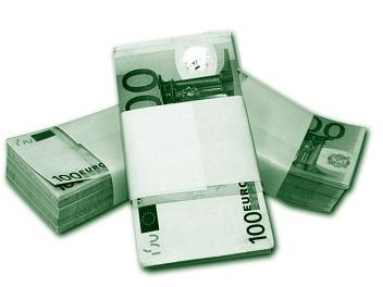 stapeltje met geld