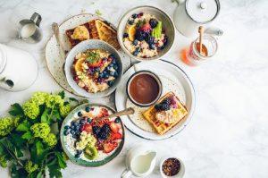 gezond voedsel op tafel